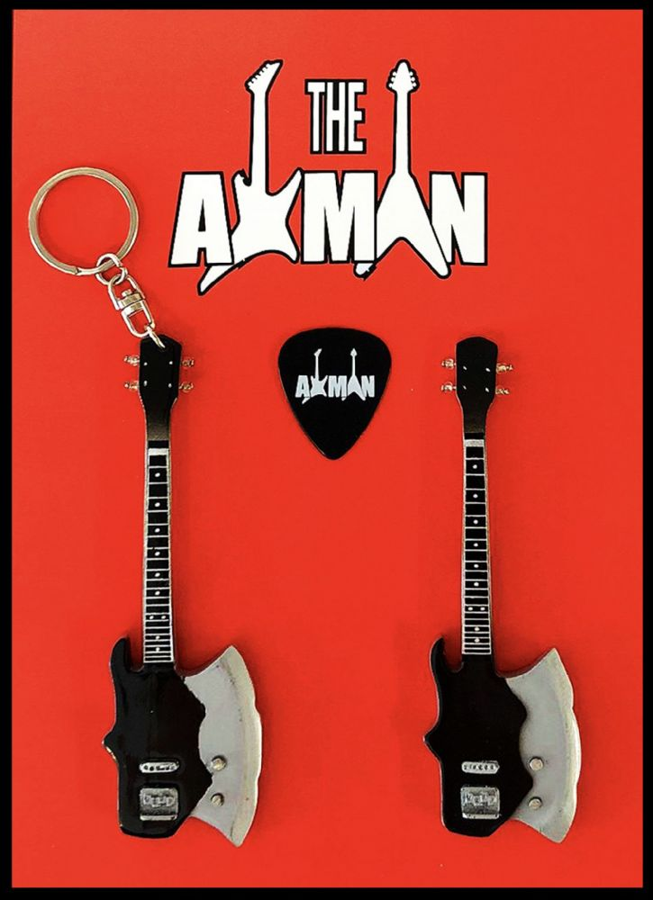(Kiss) Gene Simmons: Kramer Axe Bass - Keyring & Magnet Variation (UK Seller)